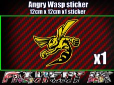 Angry Wasp Sticker Moto GP laptop helmet bike car scooter vespa hornet decal